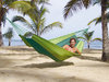 Light hammock 'Silk Traveller' - 'forest' green
