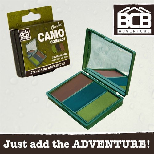 "Camouflage Cream ""Woodland"" Face Green / Black / Brown 40G BCB CL1482A"